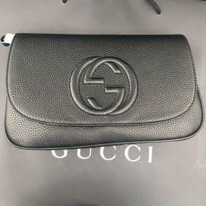 Gucci Bags - NEW Black Leather Gucci Soho Chain Crossbody Bag